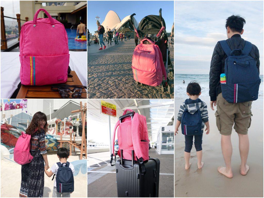 【親子旅遊好物】超實用的Chevory巧芙睿輕旅行後背包。(父子包、母子包、媽媽包、爸爸包推薦)