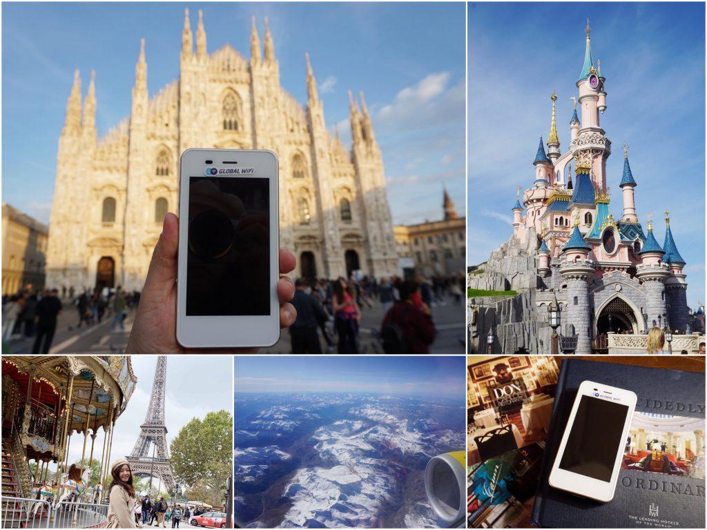 【歐洲自由行上網】GLOBAL WiFi歐洲資費與巴黎米蘭行程分享!