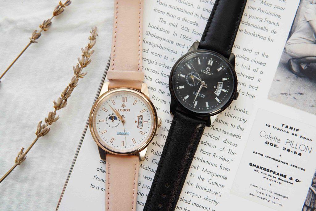 【 LOBOR 機械錶 】質感滿分的聖誕禮物|男女對錶/情侶對表/夫妻對錶開箱推薦❤