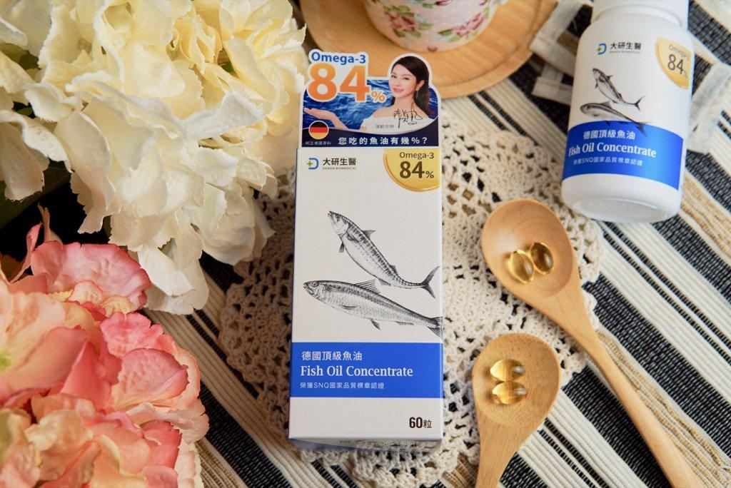 【高濃度魚油推薦】補充Omega-3必吃!高達86%的大研生醫德國頂級魚油|富含EPA、DHA、國內外檢驗認證|陳美鳳代言(註冊享折扣金500元)