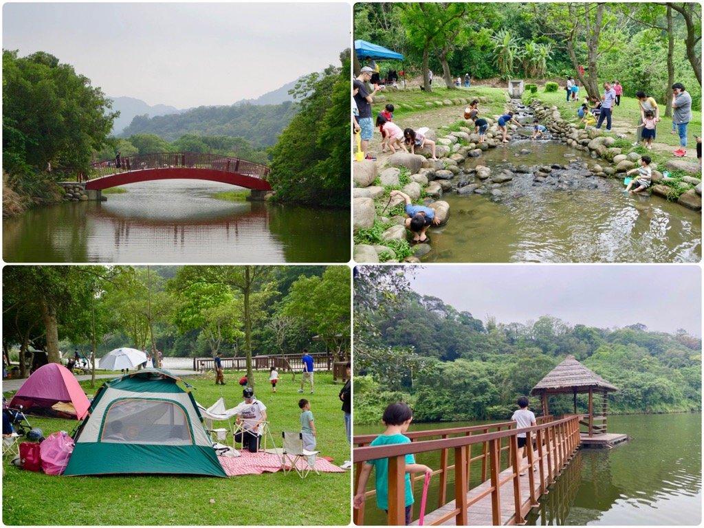 【桃園親子景點】龍潭三坑自然生態公園|野餐、草地、小野溪~讓小孩玩瘋的大自然公園