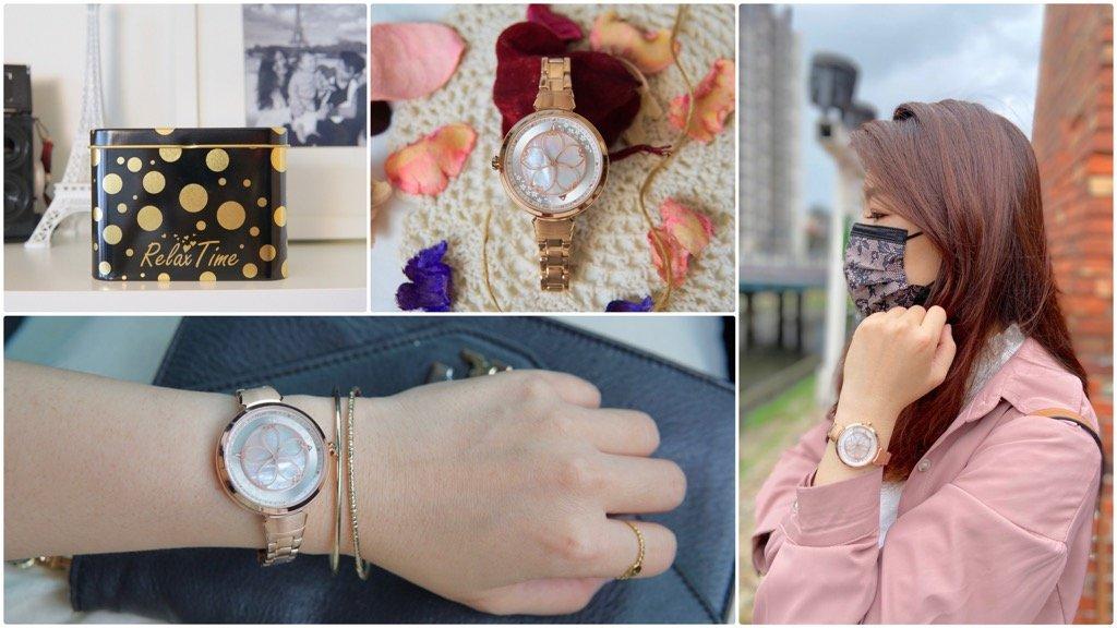 【2021人氣女錶推薦】Relax Time日本爆紅設計錶款RT-72絕美櫻花錶|日本機芯|藍寶石水晶鏡面玫瑰金不鏽鋼錶帶